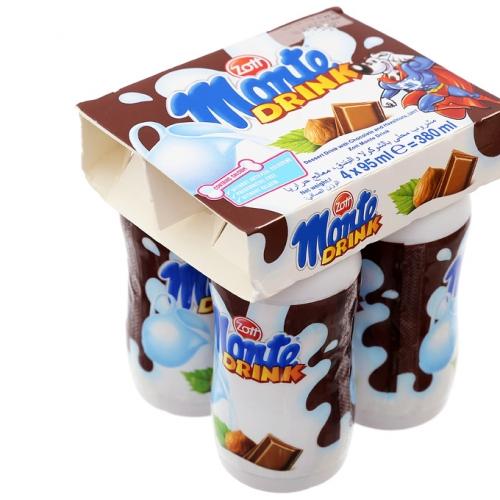 Váng sữa uống Monte vị sôcôla lốc 4 chai x 95ml